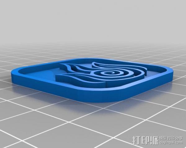 水 地球 火 空气 标志 3D模型  图4