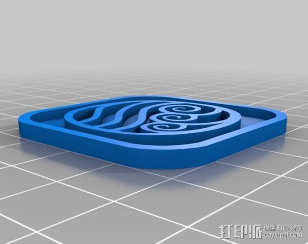水 地球 火 空气 标志 3D模型  图6