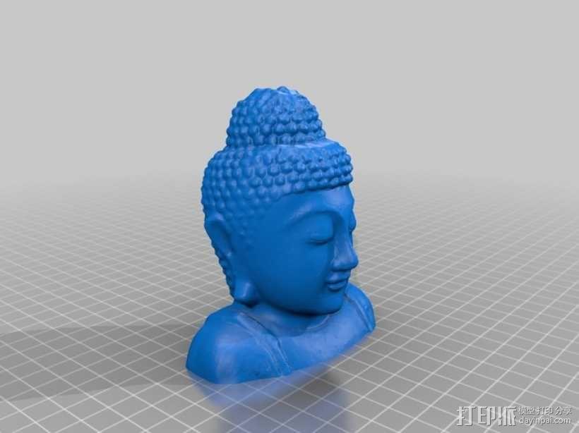 如来佛头像 3D模型  图1