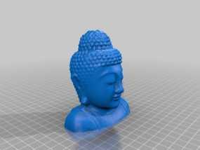 如来佛头像 3D模型