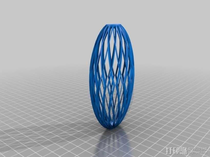 镂空花瓶 3D模型  图3