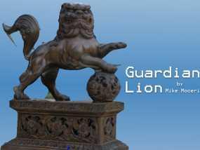 石狮子 雕塑模型 3D模型