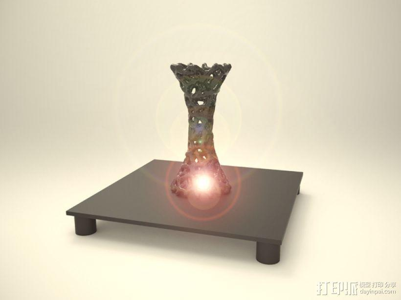泰森多边形 镂空花瓶 3D模型  图9