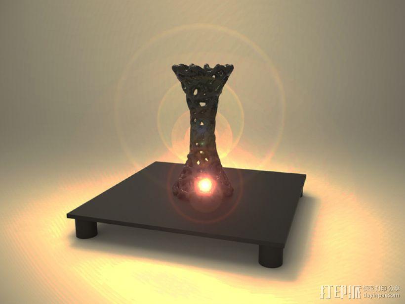 泰森多边形 镂空花瓶 3D模型  图10