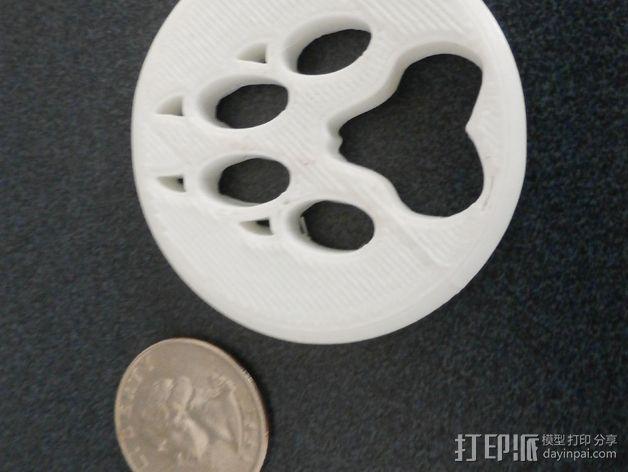 狼爪 3D模型  图2
