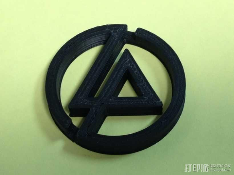 林肯公园 乐队标志3D模型 作者laiyuan收藏的3D模型 打印派