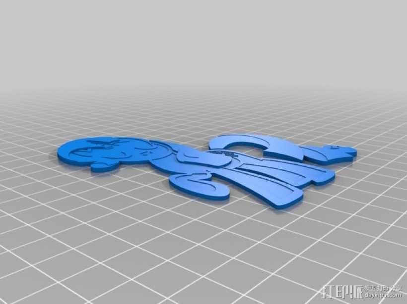 Rarity独角兽小马 3D模型  图1