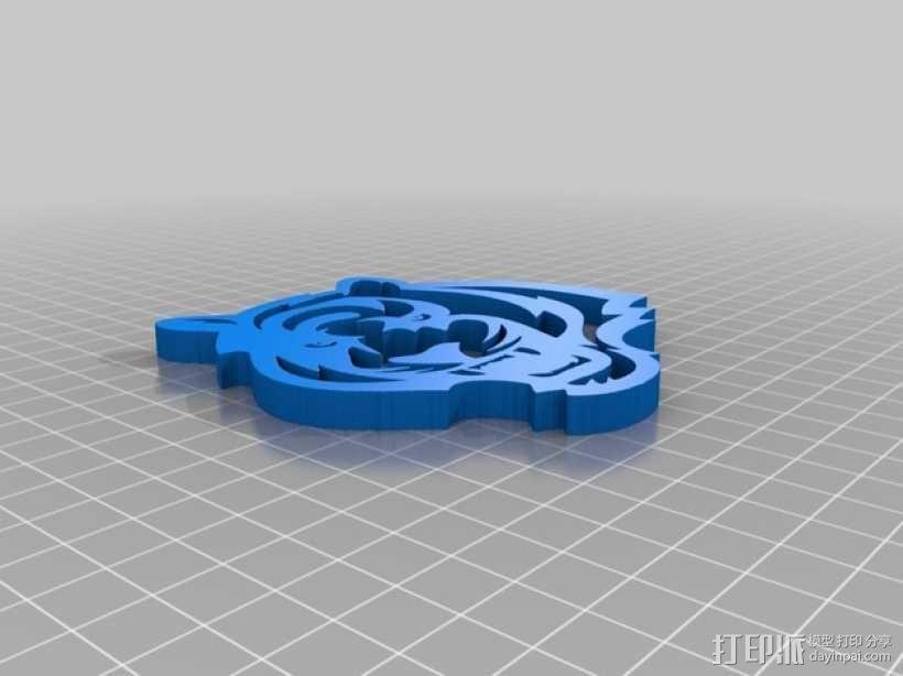 孟加拉虎 标志 3D模型  图2