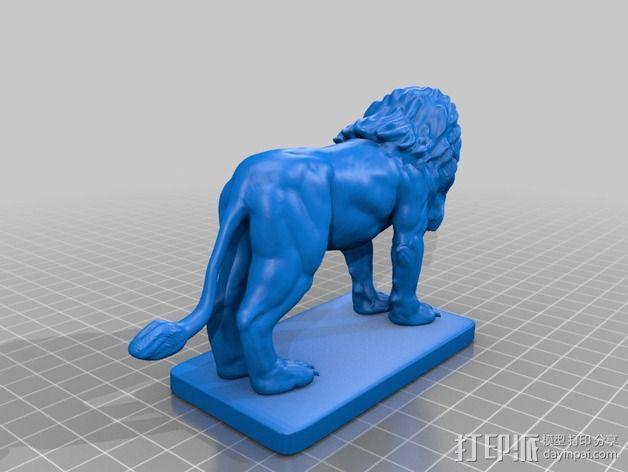 石狮子 雕塑模型 3D模型  图2