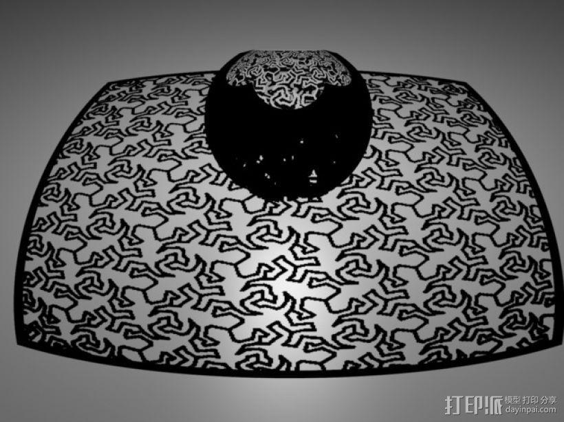 埃舍尔蜥蜴 立体投影球 3D模型  图1