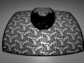 埃舍尔蜥蜴 立体投影球 3D模型
