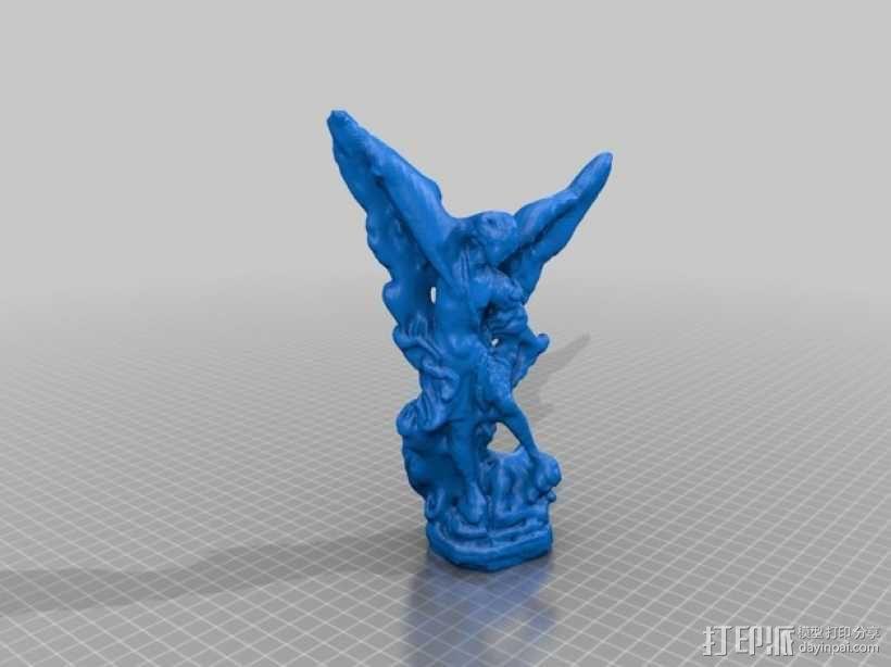 米迦勒michael雕塑模型 3D模型  图1