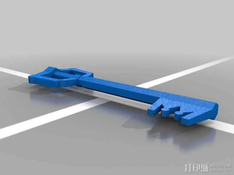 王国之心 钥匙 3D模型  图1