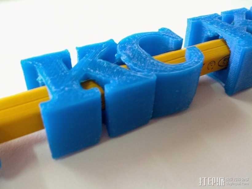 KC 铅笔夹 3D模型  图1