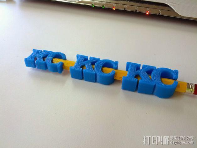 KC 铅笔夹 3D模型  图3