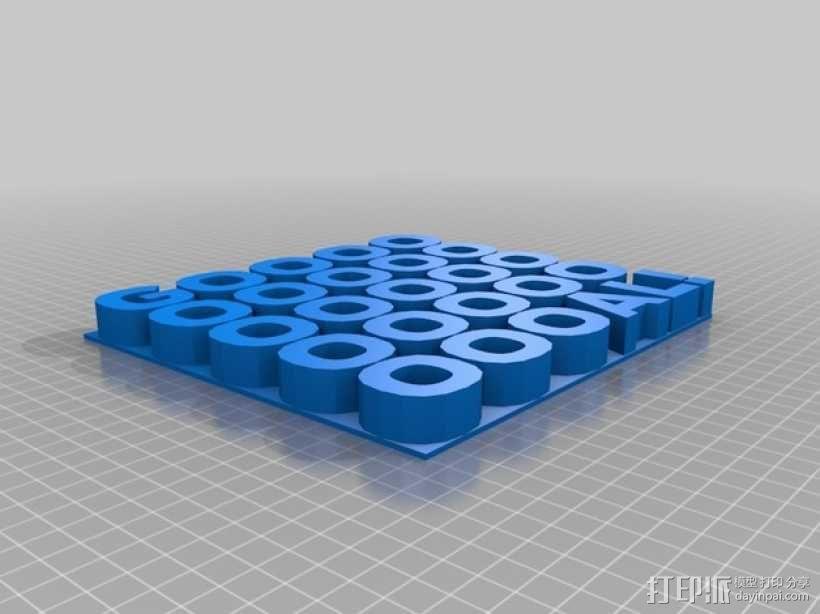 GOOOOOOOOOOOOOOOOOOOOOAL!字母雕塑 3D模型  图4