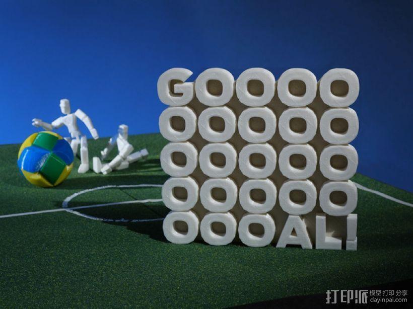 GOOOOOOOOOOOOOOOOOOOOOAL!字母雕塑 3D模型  图3