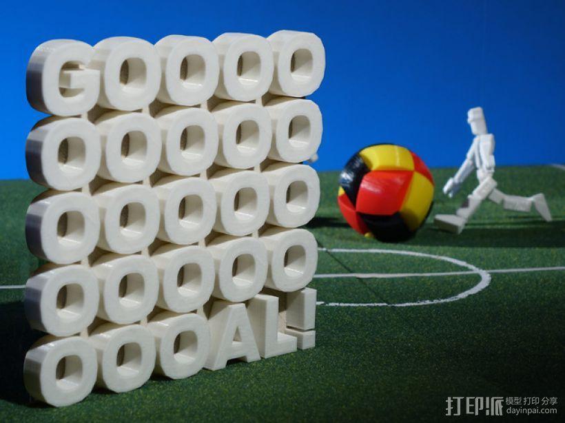 GOOOOOOOOOOOOOOOOOOOOOAL!字母雕塑 3D模型  图1