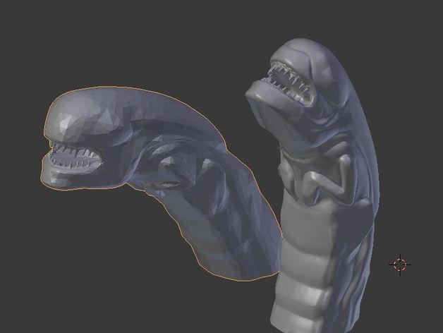 异形 破胸者 模型 3D模型  图4