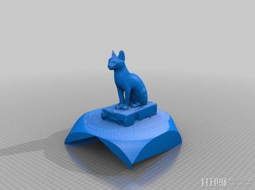 埃及猫 模型 3D模型  图4