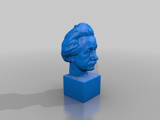 Albert Einstein爱因斯坦半身像模型 3D模型  图2