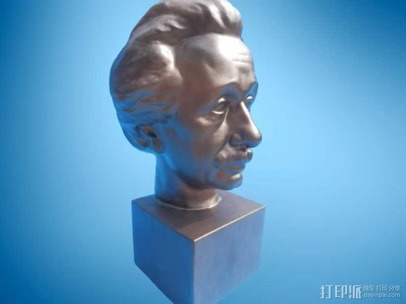 Albert Einstein爱因斯坦半身像模型 3D模型  图1