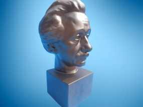 Albert Einstein爱因斯坦半身像模型 3D模型
