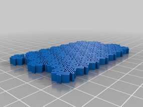 介孔结构材料模型 3D模型