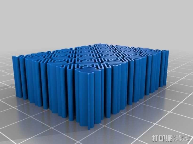 介孔结构材料模型 3D模型  图3
