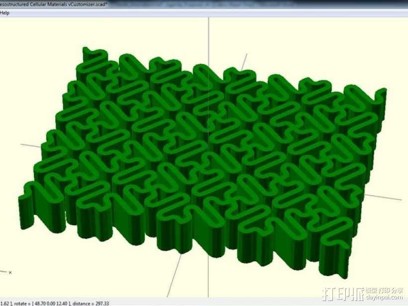 介孔结构材料模型 3D模型  图6