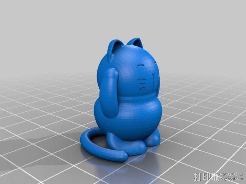 招财猫 模型 3D模型  图2