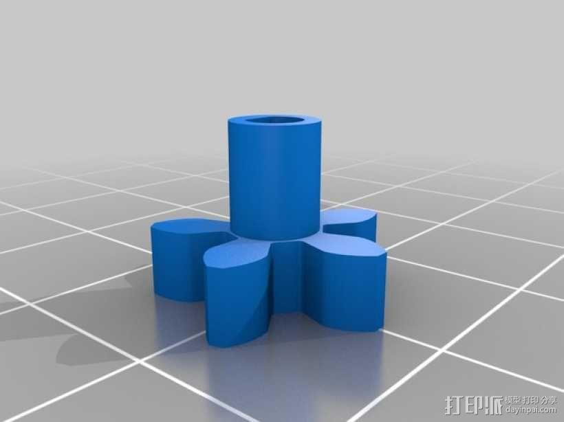电动版齿轮心 3D模型  图4