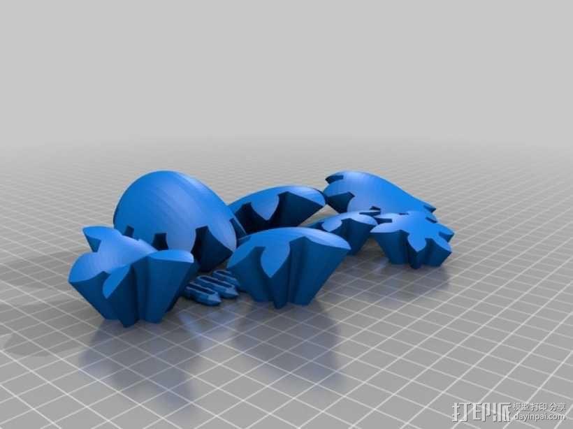 电动版齿轮心 3D模型  图7