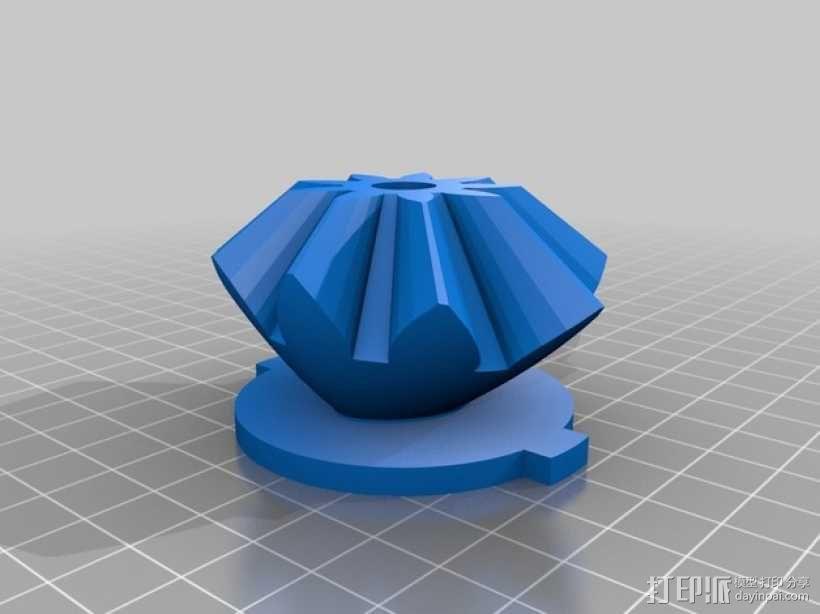 电动版齿轮心 3D模型  图6