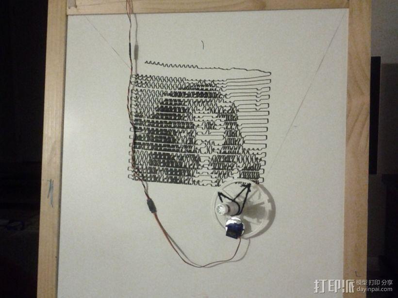 白板绘图机 3D模型  图1