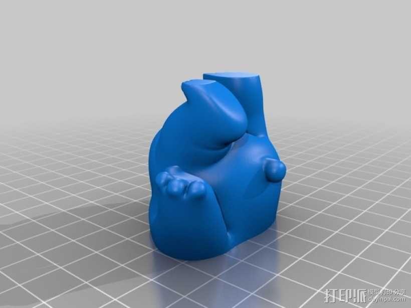 小熊饼干罐 3D模型  图2