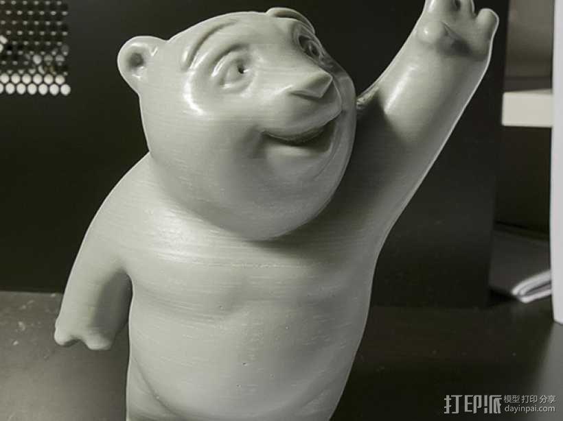 小熊饼干罐 3D模型  图1