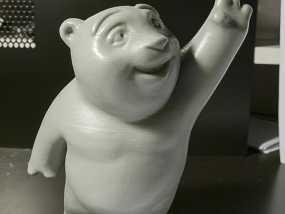 小熊饼干罐 3D模型