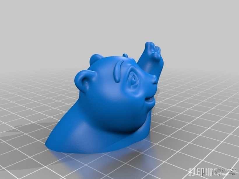 小熊饼干罐 3D模型  图3