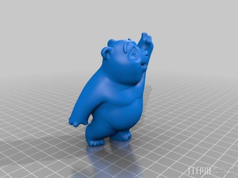 小熊饼干罐 3D模型  图4