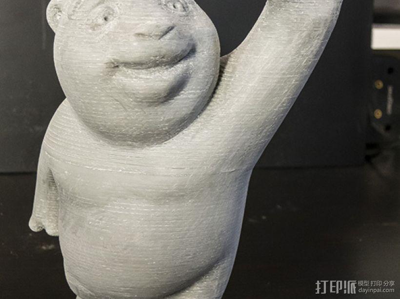 小熊饼干罐 3D模型  图5