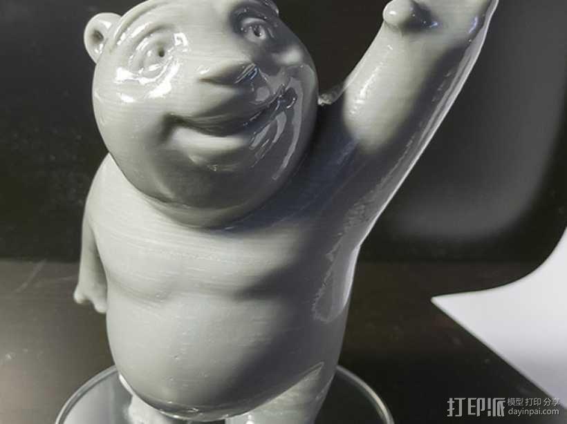 小熊饼干罐 3D模型  图6