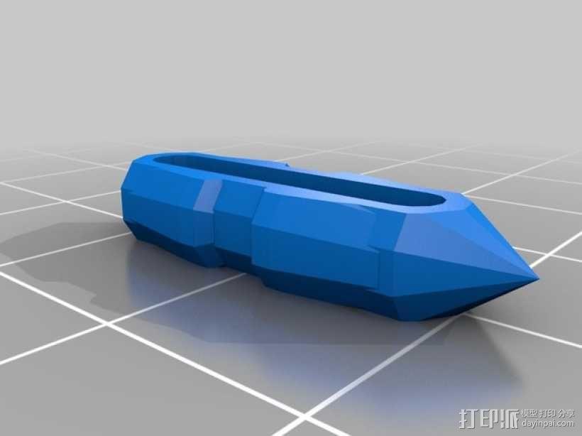 齿轮心 3D模型  图6