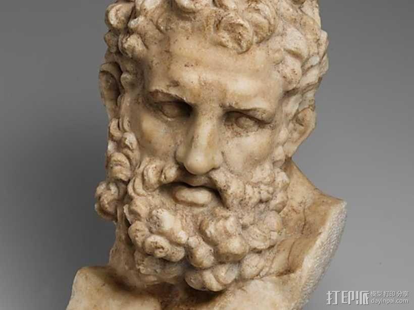 Herakles赫拉克利斯 大理石头像模型 3D模型  图1