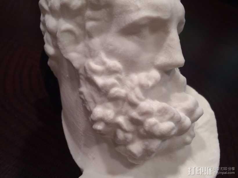 Herakles赫拉克利斯 大理石头像模型 3D模型  图3