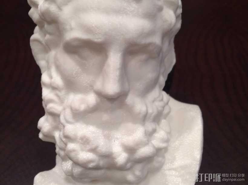 Herakles赫拉克利斯 大理石头像模型 3D模型  图4