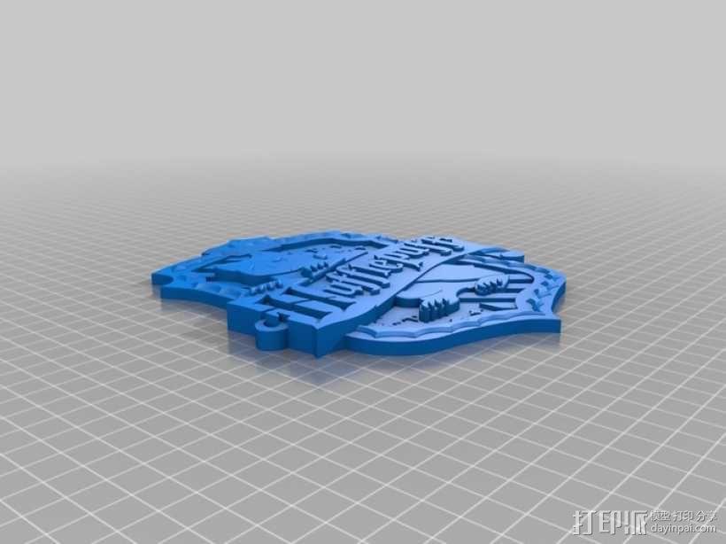 哈利波特 赫奇帕奇学校标志 3D模型  图1