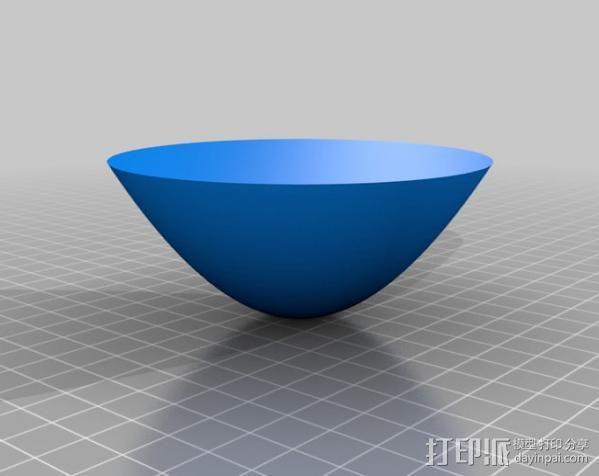 抛物面反射器 3D模型  图3