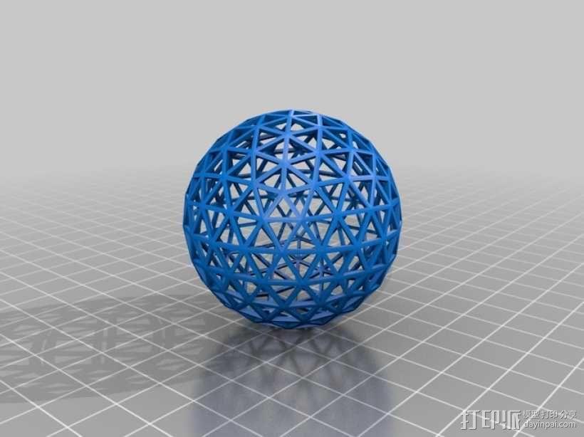 测地线球体 3D模型  图2
