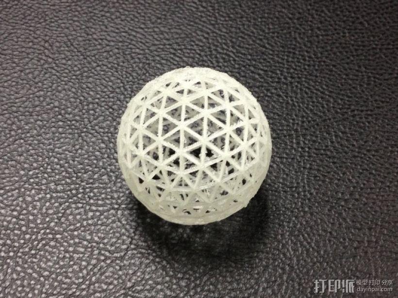 测地线球体 3D模型  图1